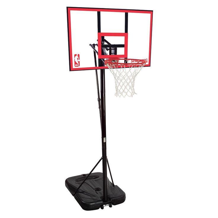 Spalding 44-in. Polycarbonate Portable Basketball Hoop, Multicolor