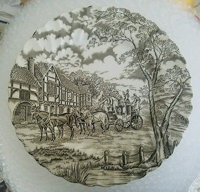 SET OF 4 DINNER PLATES ROYAL MAIL STAFFORDSHIRE CHINA LOT# 1
