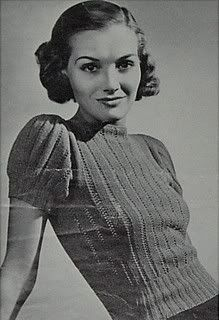 Free Vintage 1930s Blouse with Puff Sleeves Knitting Pattern / Tutorial