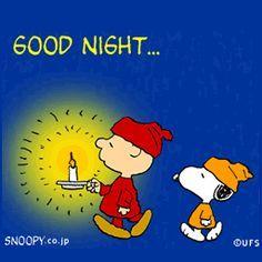 Charlie Brown & Snoopy say good night