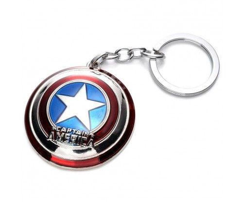 Amerika Kapitány pajzsa kulcstartó - Marvel, Bosszúállók rajongóknak, képregényeket kedvelőknek