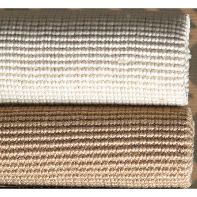 "jute bouclé rug in ""natural"" available in asst sizes: 2x3 4x6 3x5 5x8 8x10 2.5x7 (white avail in select sizes)"
