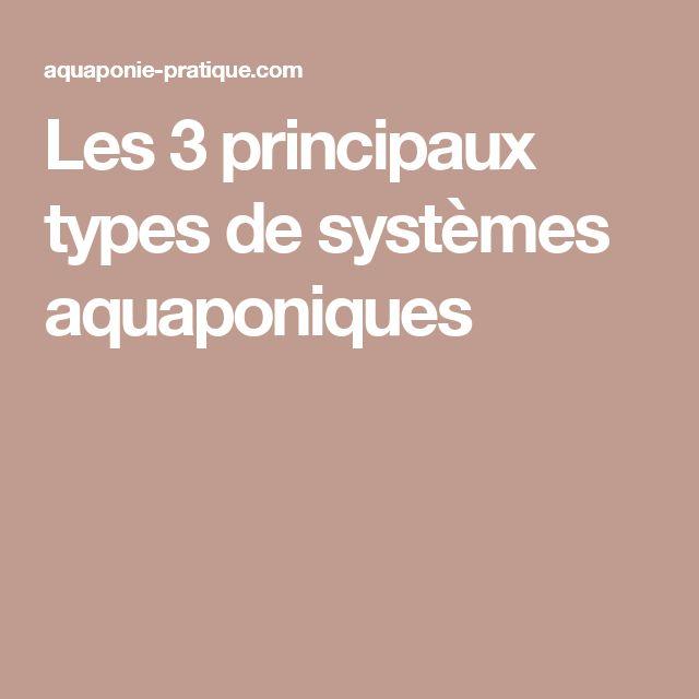 Les 3 principaux types de systèmes aquaponiques