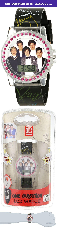 One Direction Kids' 1DKD270 One Direction Digital Display Quartz Black Watch. Quartz movement. LCD Watch. Plastic bezel. Not water resistant.
