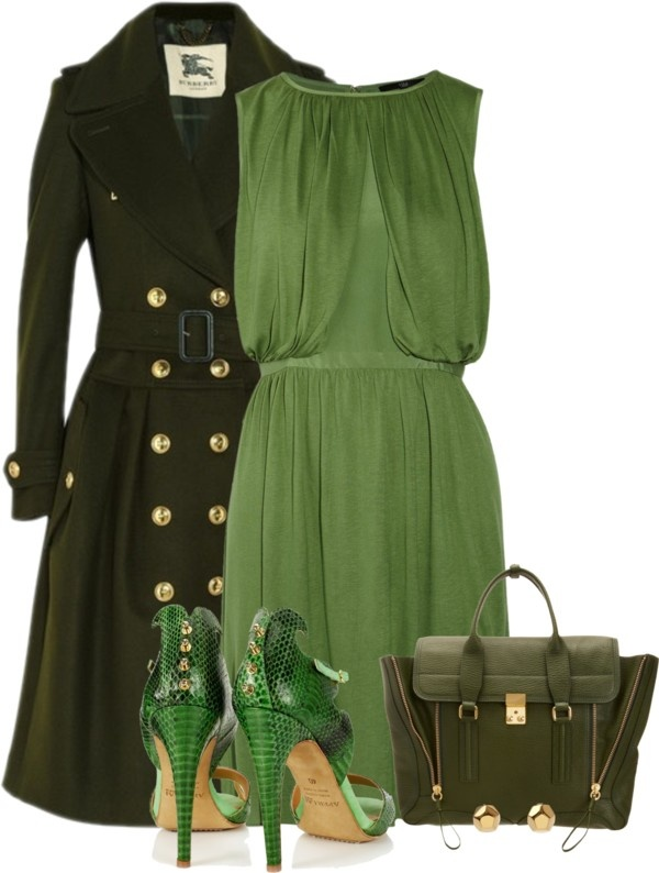 """Shades of Green"" by mssgibbs on Polyvore"