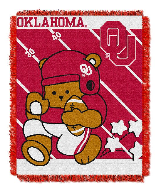 Oklahoma Sooners Woven Baby Throw