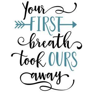 Silhouette Design Store: your first breath phrase