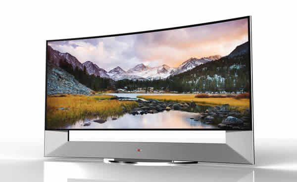 LG presentará el primer televisor Ultra HD curvo. Destaca por su formato inmersivo de 21:9 (CinemaScope) y una gran calidad de imagen, 105 pulgadas.  ofrece una magnífica calidad de imagen, un amplio ángulo de visión y la capacidad para mostrar el más mínimo detalle con una gran claridad sin precedentes.