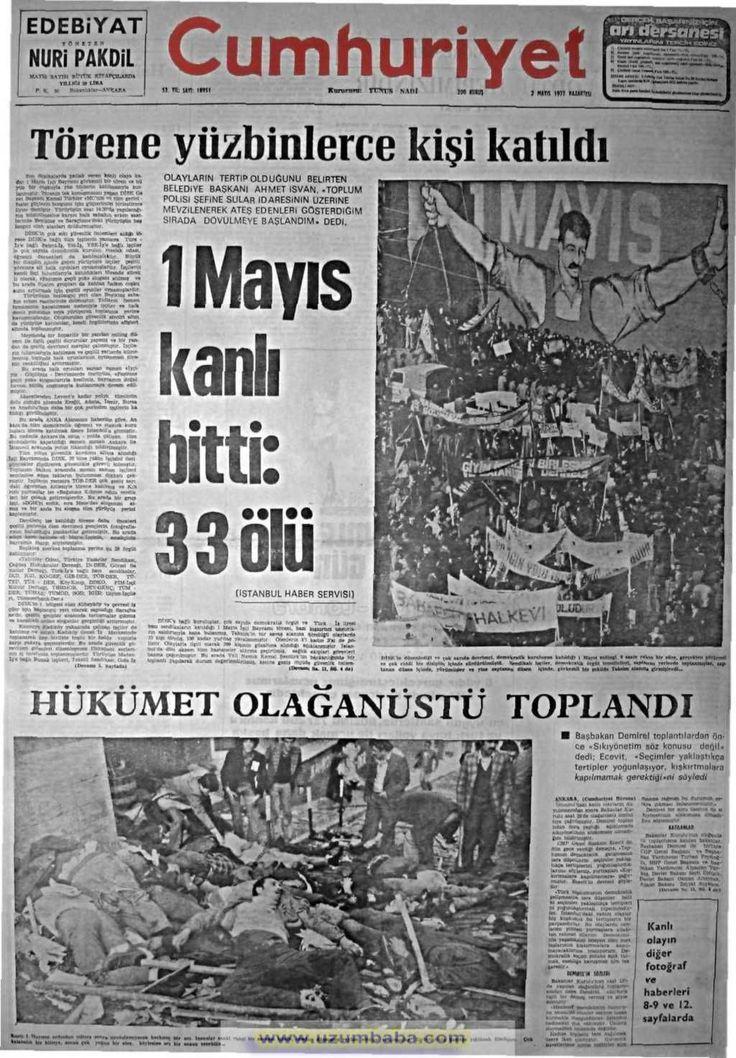 Cumhuriyet gazetesi 2 mayıs 1977