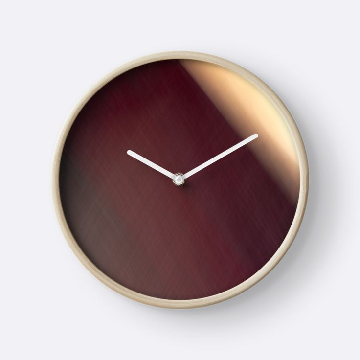 Shades of Burgundy Abstract clock by Galerie 503