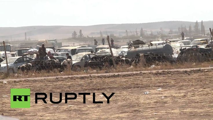 Turkey: Refugees protest as Turkish police lockdown Syrian border