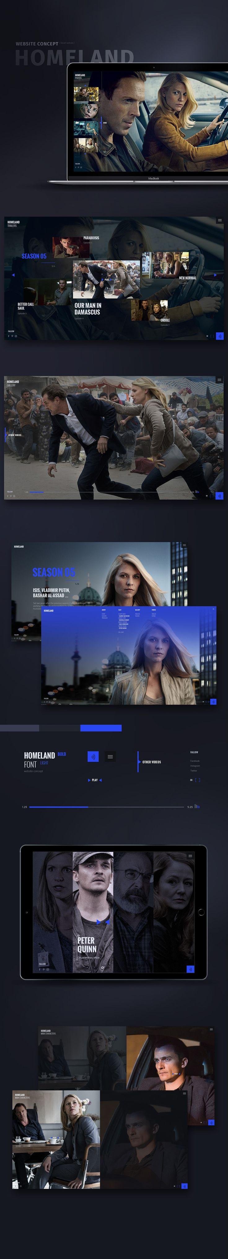Homeland website concept on Behance