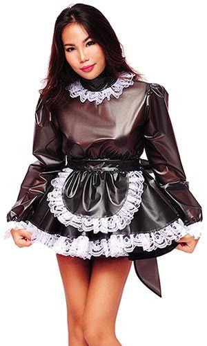 Lolita Plastic Prissy Sissy Maid