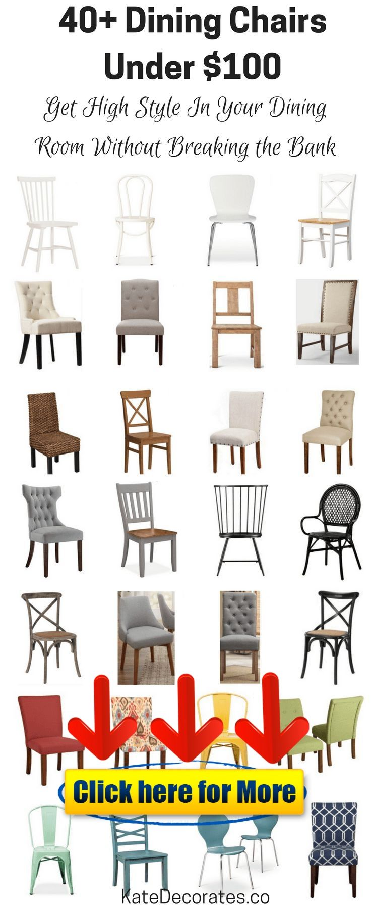 40 Affordable Dining Chairs Under 100 Furniture Sofa