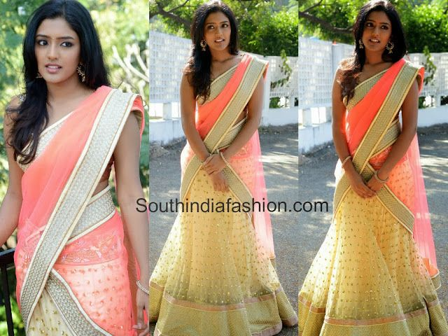 latest half saree designs