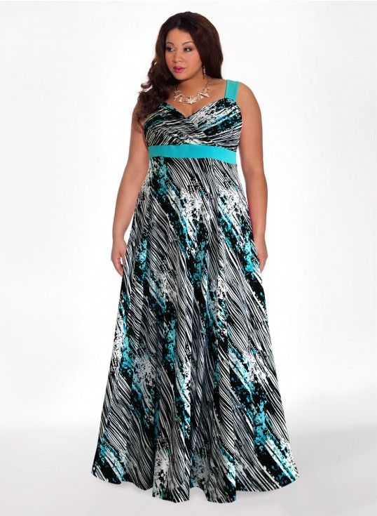 Reflections Maxi Dress in Azure