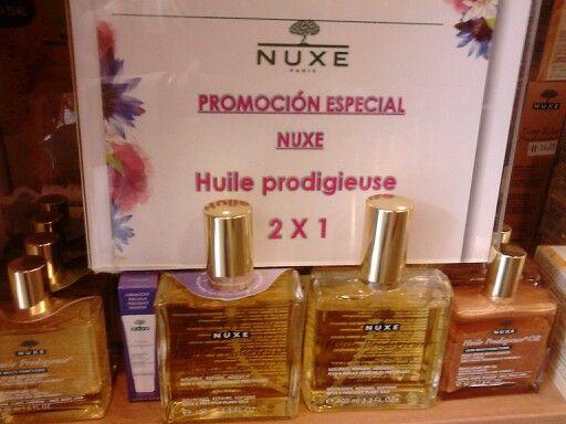 Promocion especial 2x1 de Huile Prodigieuse de NUXE hasta agotar existencias. 29,90€