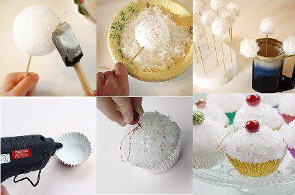 Adornos de cupcake para el arbol « Manualidades