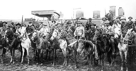 Oct 11, 1899: Boer War begins in South Africa  Boers-in-laager.