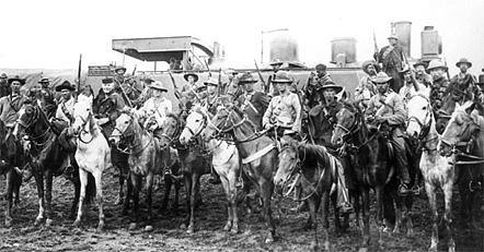 Oct 11, 1899: Boer War begins in South Africa  Boers-in-laager.