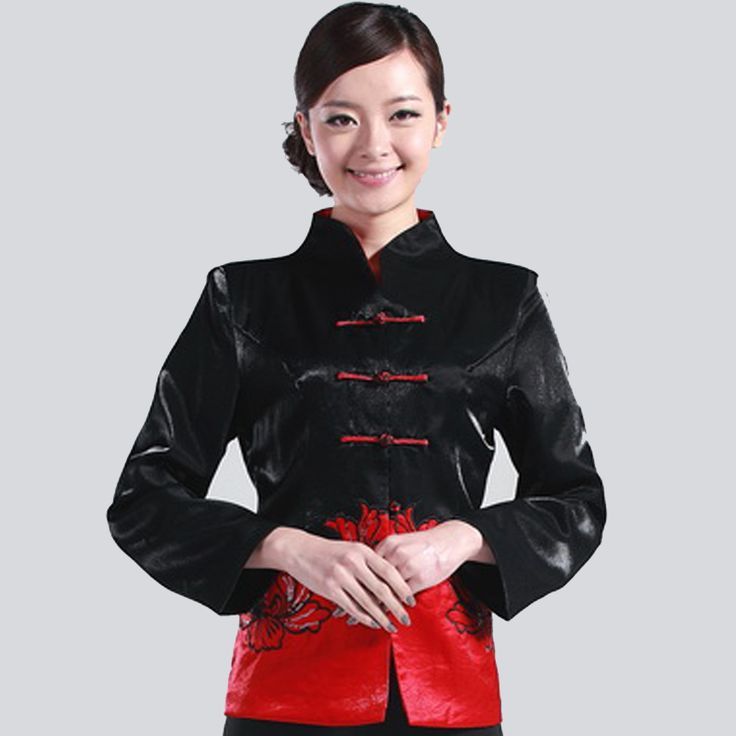 Fabulous Embroidery Frog Button Black Chinese Jacket - Chinese Jackets & Coats - Women
