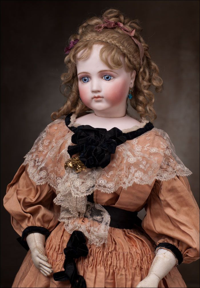 Редкая Портретная Модная кукла Emile Jumeau, 1875 - на сайте антикварных кукол.