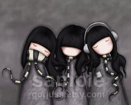 love this...see no evil, hear no evil, speak no evil by suzanne woolcott