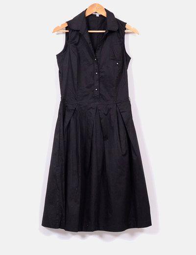 Vestido negro largo Zara