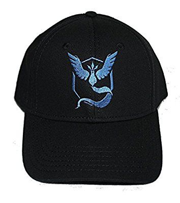 Baseball Cap Hats Pokemon Go Team Instinct Valor Mystic Premium Quality Stitches Snapback (Team Mystic Blue)