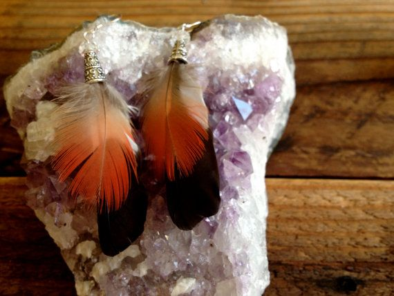 Matching Set Feather Earrings 5 by littleseaweeds on Etsy