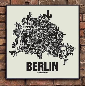 Typographical map of Berlin's streets and neighborhoods