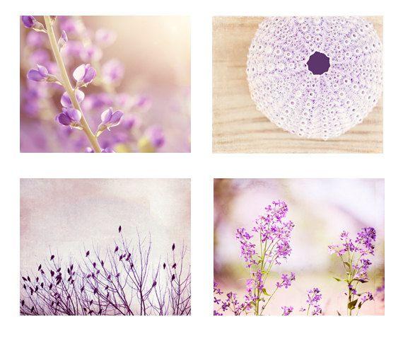 Light Purple Wall Art Set nature photography door CarolynCochrane