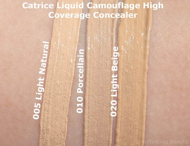Review of Catrice Liquid Camouflage High Coverage Concealer 005 Light Natural, 010 Porcellain, 020 Light Beige.