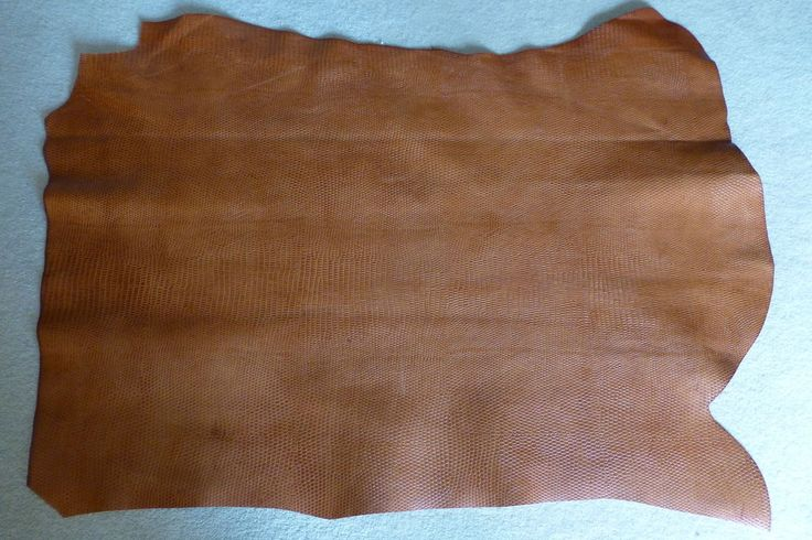 6.0 sqft LUXURY COW LEATHER HIDE - SMALL REPTILE PRINT - TAN in Crafts, Leathercraft | eBay
