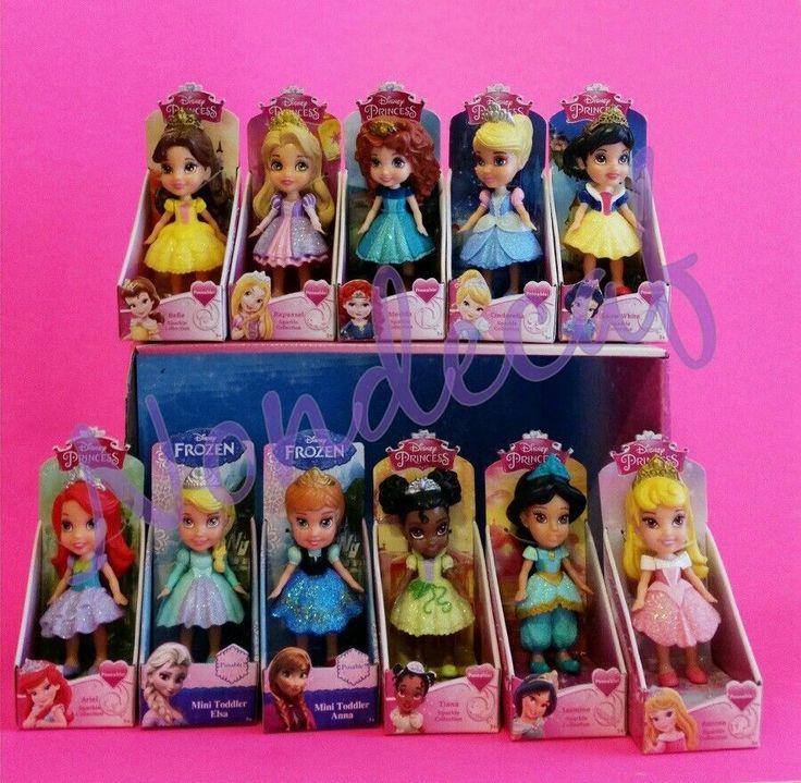 Disney Princess Sparkle Baby Cinderella Doll: Stocking Stuffers Chore Rewards 11 MINI TODDLER SPARKLE