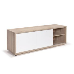Meuble Tv Design Scandinave Ch Ne Blanc Checker Les