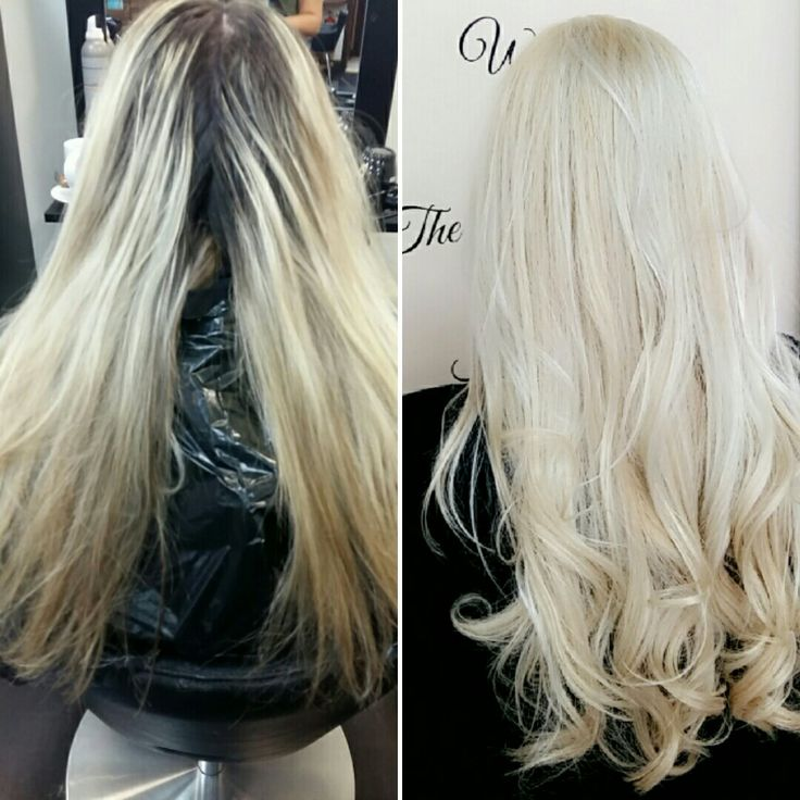Before and after. . Soft clean blonde