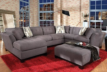Slate 4pc Sectional by Cindy Crawford Home....My couch but in chocolate brown!! Love it ) | Decor Ideas | Pinterest | Cindy crawford Slate and Living ... : cindy crawford home sectional - Sectionals, Sofas & Couches
