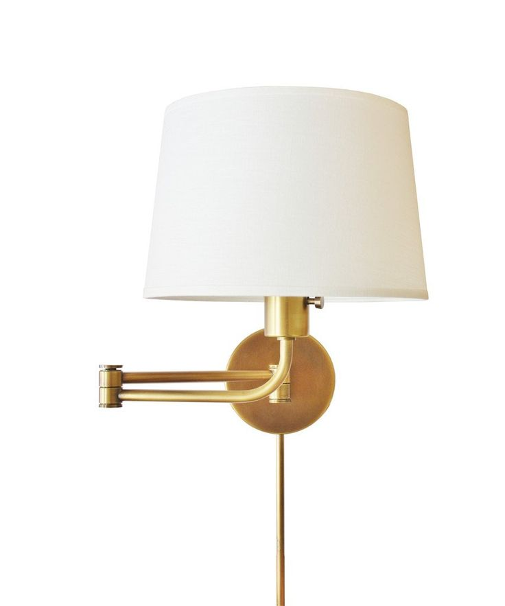 - Koleman Swing Arm Wall Sconce, Antique Brass - the perfect bedside reading lamp with a graceful curve at the neck-- adjust the swing arm for optimum light - swings to the left or right, will accept