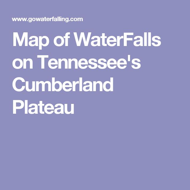 Map of WaterFalls on Tennessee's Cumberland Plateau