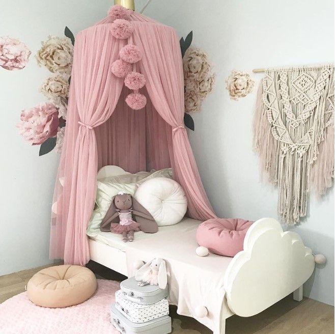 Canopy Mosquito Net To The Nursery Kids Room Design Girl Room Kids Bedroom