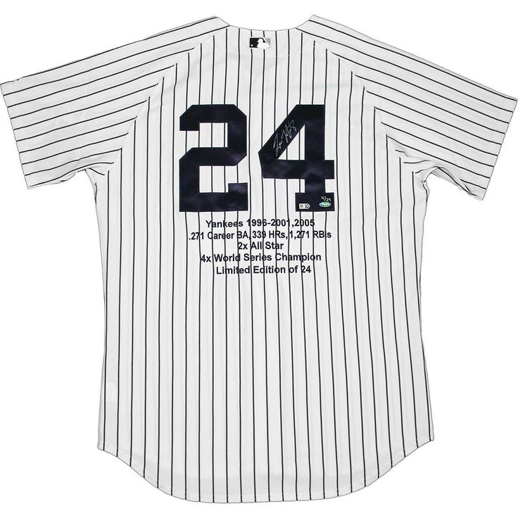 Tino Martinez Signed Authentic Pinstripe Yankees Jersey w Embroidered Stats (LE24)(MLB Auth)