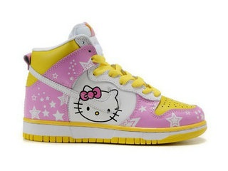 Nike SB Hello Kitty Shoes Dunks Girls Pink Yellow White