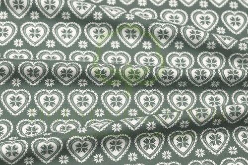 Bawełna serca skandynawskie szaro-białe / Gray & white X-mas scandinavian hearts snowflakes cotton fabric