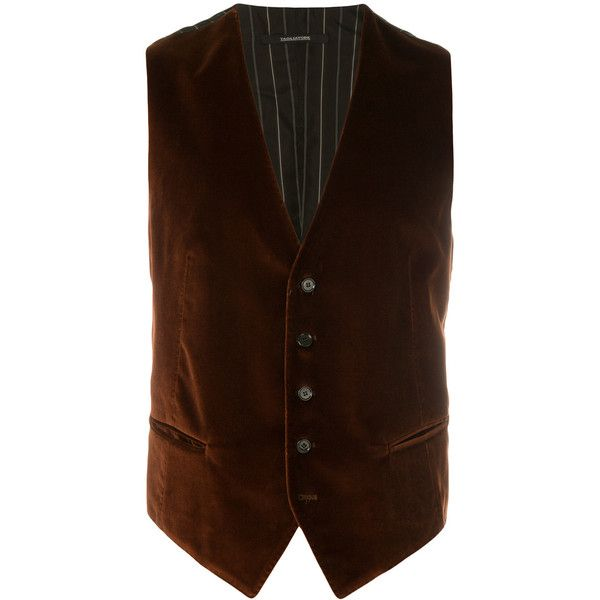 Tagliatore formal waistcoat (11.395 RUB) ❤ liked on Polyvore featuring men's fashion, men's clothing, men's outerwear, men's vests, brown, mens formal vest, mens formal wear vests, mens brown vest and mens waistcoat vest
