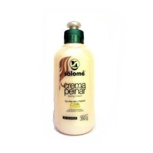 Salome Crema Para Peinar (Combing Cream) 350ml by Maria Salome. $24.34. Crema para peinar friz. Made in Colombia. Maria Salome Combing Cream is a natural conditioner that revitalizes and moisturizes the hair leaving it smooth and manageable.Improves hair texture,brightness and controls volume.Keep curls well defined and hair stylish all day.