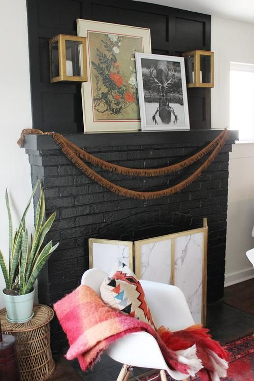 Fireplace Makeover in 4 Steps