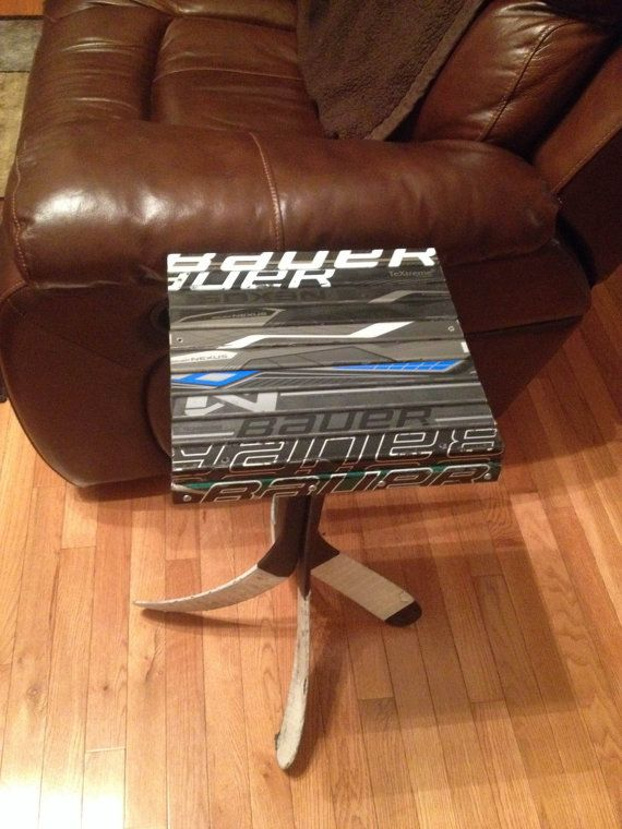12X12 Hockey Stick End Table Bauer Nexus by WarriorCustoms on Etsy, $125.00