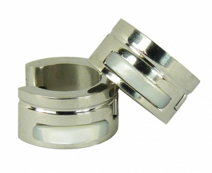Náušnice chirurgická nerez ocel jeden pruh 32807-3 | Bižuterie Kozák