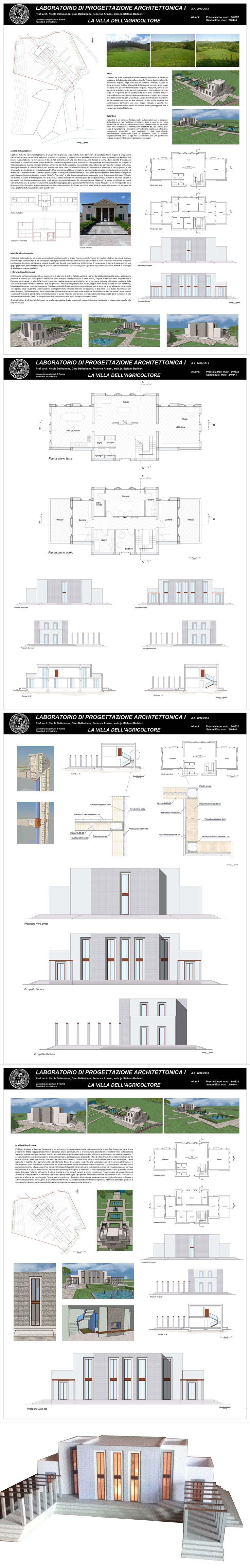 Laboratorio di progettazione I 2013 - La villa dell'agricoltore